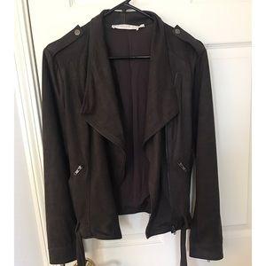 ASTR off black/brown Suede jacket